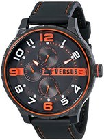 Versus By Versace Men's SBA030014 Globe Analog Display Quartz Black Watch