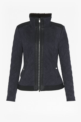 French Connection Zoe Quilted Zip Up Jacket