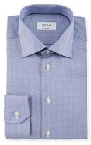 Eton Contemporary-Fit Rope-Striped Dobby Dress Shirt, Navy