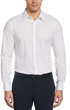 Perry Ellis Men's Scattered Petals Long Sleeve Button-Down Stretch Shirt