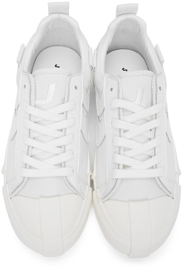 Thumbnail for your product : Joshua Sanders White Tonal Sneakers