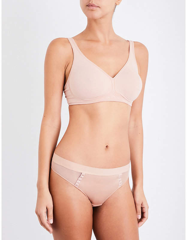 Wolford Signature Skin soft-cup stretch-cotton bra
