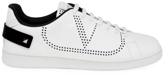 Valentino Perforated V Logo Leather Sneakers