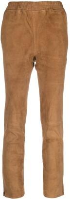 Arma Lambskin Leather Skinny Trousers