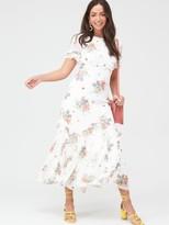 Very Godet Hem Midaxi Dress - White
