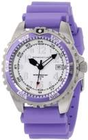 Momentum Ladies 1M-Dv11Wp1L M1 Twist Purple Bezel Lavender Silicone Rubber Watch