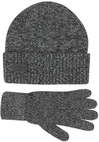 DSQUARED2 Dark Gray Wool and Cashmere Set of Gloves & Hat