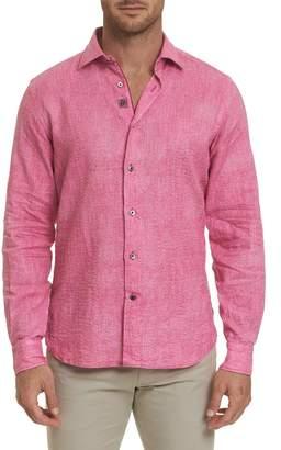 Robert Graham Santino Classic Fit Linen Woven Shirt