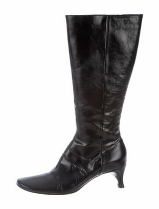 CNC Costume National Patent Leather Boots Black