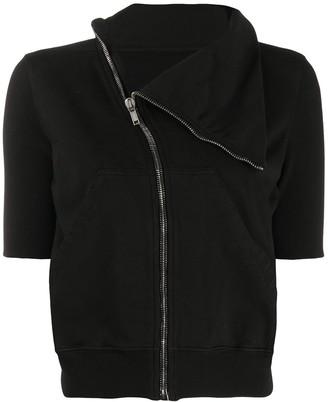 Rick Owens Zipped Front Shortsleeved Sweatshirt