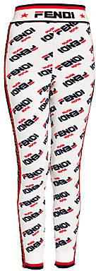 Fendi Women's Allover Mania Logo Pants