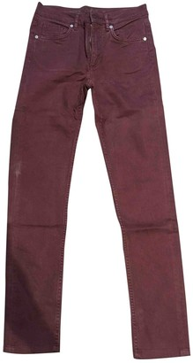Cos Burgundy Cotton - elasthane Jeans for Women