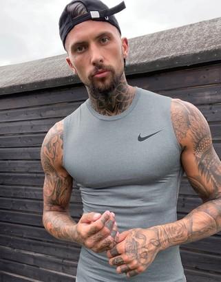 Nike Running Nike Training top in grey