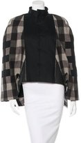 Rick Owens Leather-Accented Plaid Jacket