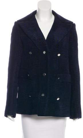 The Row Patterned Double-Breasted Coat