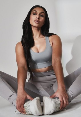 Missguided Grey Functional Sports Bra