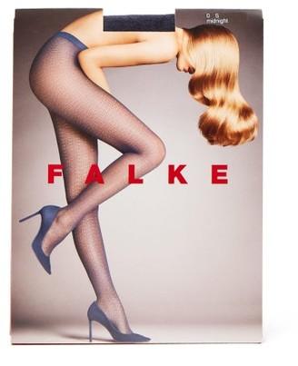 Falke Daydream Floral-jacquard 30-denier Tights - Womens - Navy