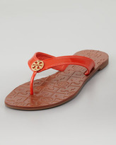 Tory Burch Thora2 Patent Thong Sandal, Flame Red