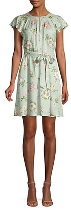 Rebecca Taylor Flutter Sleeve Floral Dress