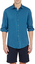 Massimo Alba Men's Solid Voile Shirt-GREY