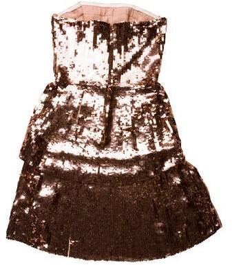 Thumbnail for your product : Osman Strapless Mini Dress Metallic