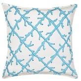 Claudel Lattice Cotton Canvas Throw Pillow Highland Dunes Color: Turquoise