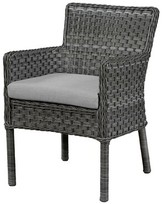 Wildon Home Arm Chair with Cushion Fabric: Canvas Air Blue