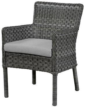Wildon Home Arm Chair with Cushion Fabric: Canvas Granite