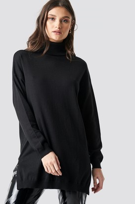 NA-KD Turtle Neck Long Sweater Black