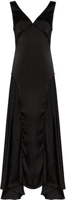 Jil Sander Marigold draped gown