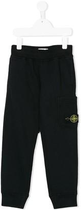 Stone Island Junior logo patch sweatpants