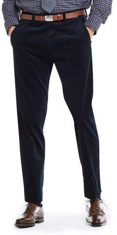 Todd Snyder Black Label Made in USA Black Label Wide Wale Cord Suit Trouser in Navy