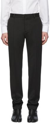 Maison Margiela Black Cotton Chino Trousers
