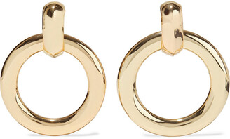 Kenneth Jay Lane Gold-plated Clip Hoop Earrings