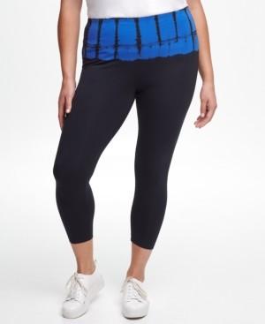 Calvin Klein Plus Size Bel Air Tie-Dyed High-Rise Leggings