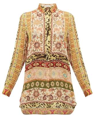 Etro Berkshire Printed Silk Blouse - Womens - Ivory Multi