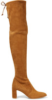 Stuart Weitzman Tieland Suede Over-the-knee Boots - Tan