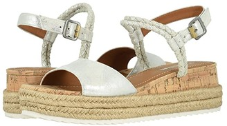 Trask Christine (Ivory Metallic Suede) Women's Sandals