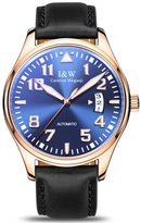 Carnival Iw Series Men's Automatic Mechanical Watch Luminous Analog Calendar Leather Band