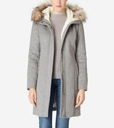 Cole Haan Striccato Wool Hooded Parka