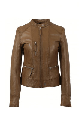 Oakwood Each Collarless Biker Jacket - Large