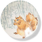 Vietri Into the Woods Squirrel Small Round Platter - Brown