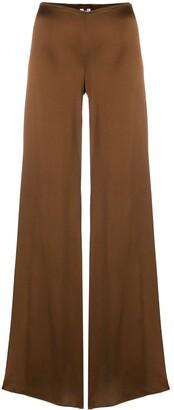 Romeo Gigli Pre Owned Glossy Flared Trousers