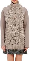 MM6 MAISON MARGIELA Women's Knit-Inset Sweater-BEIGE, TAN