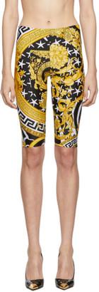 Versace Multicolor Heritage Stamp Bike Shorts