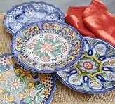 Pottery Barn Del Sol Melamine Dinner Plate, Mixed Set of 4