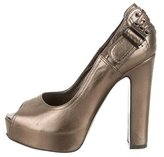 Philosophy di Alberta Ferretti Metallic Peep-Toe Pumps