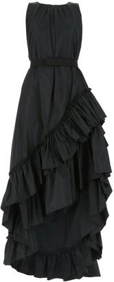 Max Mara Asymmetric Ruffled Hem Dress
