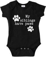 Decal Serpent Funny Baby Bodysuit Infant My Siblings Have Paws