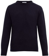 Thom Browne Stripe-intarsia Wool-blend Sweater - Mens - Navy